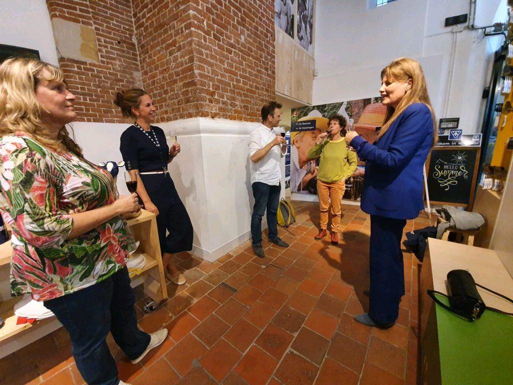 Proosten op het jubileum in het Kaasmuseum